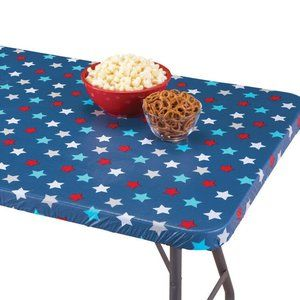 Patriotic Americana  Elastic Fitted Table Cover